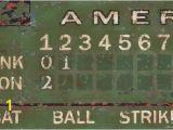 Baseball Scoreboard Wall Mural Green Vintage Scoreboard Baseball by Oopsy Daisy