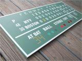 Baseball Scoreboard Wall Mural Painted Fenway Green Monster Scoreboard Boston Red sox
