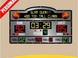 Baseball Scoreboard Wall Mural Personalized Custom Scoreboard Basketball Wall Decal Sticker