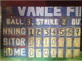 "Baseball Scoreboard Wall Mural Vintage Aged"" Baseball Scoreboard Art In Acrylic"