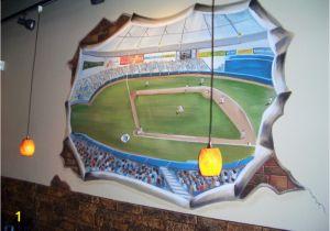 Baseball Stadium Wall Mural Baseball Wall Murals S Wall and Door Tinfishclematis