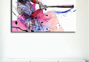 Baseball Wall Murals Cheap 2019 Yann Dalon Illustrations Baseball Player Hd Canvas Prints Wall