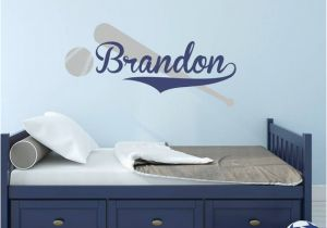 Baseball Wall Murals Cheap Baseball Wall Decal with Personalized Name Boys Name Decal Sports