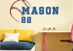 Baseball Wall Murals Cheap Wall Decal Vinyl Sticker Sport Baseball Ball Bat Game Team Monogram