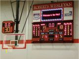 Basketball Scoreboard Wall Mural Full Feature Scoreboard with Player Stat Panels and A 4 X 8