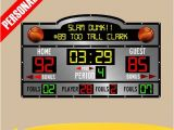 Basketball Scoreboard Wall Mural Personalized Custom Scoreboard Basketball Wall Decal Sticker