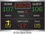 Basketball Scoreboard Wall Mural Scoreboard Image Of A Basketball Scoreboard