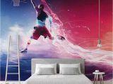 Basketball Wall Murals Large Basketball Wallpaper 3d Cartoon Murals for Children S Rooms