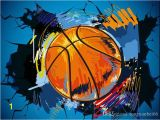 Basketball Wall Murals Large Custom Wallpaper 2016 Basketball Wall Broken European and American Style 3d Stereo Background Wall Crack S Wallpaper S Wallpapers From