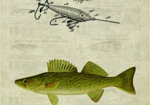 Bass Fishing Wall Murals Antique Fly Fishing Lure Us Patent Poster Art Print Crappie Trout Mouth Bass Walleye Muskie Lures Poles 11×14 Wall Decor