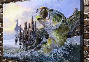 Bass Fishing Wall Murals Z112b Al Agnew Aquatic Animals Sea Fish Landscape Hd Canvas