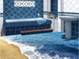 Bathroom Wall Murals Uk Beach Wave Floor Decals 3d Wallpaper Wall Mural Stickers Print