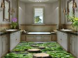 Bathroom Wall Murals Uk Lilypad Pond Stone Stage Fish Floor Decals 3d Wallpaper Wall Mural