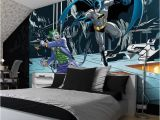 Batman Cityscape Wall Mural Giant Size Wallpaper Mural for Girl S and Boy S Room Batman & Joker