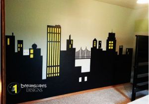 Batman Cityscape Wall Mural Julio Rocha Julionrocha On Pinterest