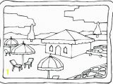Beach House Coloring Pages Coloring Beach Scene Coloring Pages Page Items Printable Beach