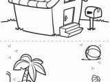 Beach House Coloring Pages First Pages House and Beach Coloring Page