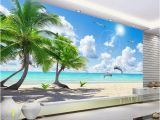 Beach Murals Cheap Customize Hd Coconut Tree Wall Mural Wallpaper 3d Wallpaper for