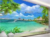 Beach Murals Cheap Hd Coconut Tree Seaside Landscape Nature Wallpaper Living Room theme