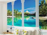 Beach Murals Cheap Wall Mural Photo Wallpaper 2357p Beach Tropical Paradise Arches