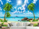 Beach Murals for Walls Beibehang Wallpaper for Walls 3 D Custom Wallpapers Sea View