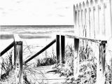 Beach Scene Coloring Pages for Adults Coloring Page Beach Boardwalk Digital Adult