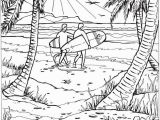Beach Scene Coloring Pages for Adults Creative Haven Summer Scenes Doverpublications