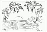 Beach Scene Coloring Pages for Adults Scenery Coloring Pages for Adults Best Coloring Pages
