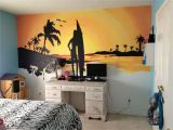 Beach Sunset Wall Mural Beach Sunset Mural My Husband and I Painted for My 10 Year