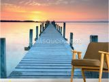 Beach Sunset Wall Mural Sunset Jetty