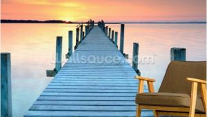 Beach Sunset Wall Mural Sunset Jetty