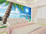 Beach Sunset Wall Mural Us $12 6 Off Palm Beach Scenery Tv Backdrop Landscape Wallpaper Murals 3d Mural Designs Home Decoration In Wallpapers From Home Improvement On