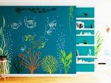 Beach theme Wall Mural Underwater Wall Decal Under the Sea Aquarium Vinyl Art