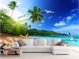 Beach themed Murals Cool Modern Printing Wallpaper Beach Landscape Wallpapers for Living