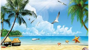 Beach Wall Murals Amazon Amazon Xbwy Custom 3d Mural Wallpaper for Wall Holiday