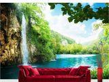 Beach Wall Murals Amazon Vlies Fototapete Premium 400x280cm Waterfall In Paradise by