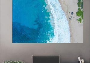 Beach Wall Murals Cheap Overhead Beach Wall Decals