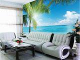 Beach Wall Murals for Bedrooms Coconut Tree Beach Wallpaper Custom 3d Wall Murals Ocean