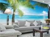 Beach Wall Murals Uk Coconut Tree Beach Wallpaper Custom 3d Wall Murals Ocean