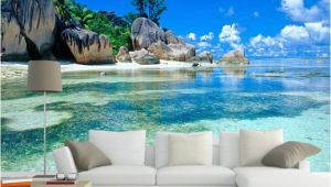 Beach Wall Murals Uk Custom Mural Wallpaper 3d Ocean Sea Beach Background Non Woven