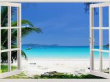 Beach Window Wall Mural Details About Home Decor Art Decals Removable Stickers Vinyl
