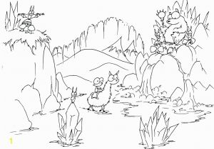 Bear In Cave Coloring Page Bears