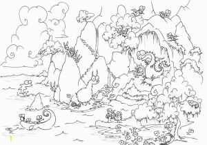 Bear In Cave Coloring Page Birds