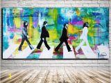 Beatles Abbey Road Wall Mural Beatles Print Modern Decor Modern Art Abbey Road Print original Art Print Contemporary Art Prints