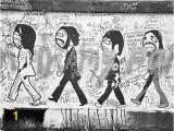 Beatles Abbey Road Wall Mural the Beatles Abbey Road Graffiti London Door Allysonbrown
