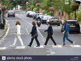 Beatles Abbey Road Wall Mural Zebra London Stockfotos & Zebra London Bilder Alamy