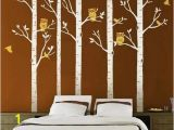 Beautiful Birch Tree Wall Mural Designyours 5 Big Birch Tree Decal with Owl Birds Wall Stickers Tree Nursery Tree Wall Decals Vinyl Tree Wall Decal