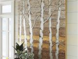 Beautiful Birch Tree Wall Mural Metallic Birch Trees Wall Art 4×4
