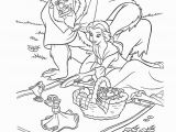 Beauty and the Beast Coloring Pages Disney Belle Picnic