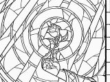 Beauty and the Beast Stained Glass Window Coloring Page Beauty and the Beast Coloring Pages